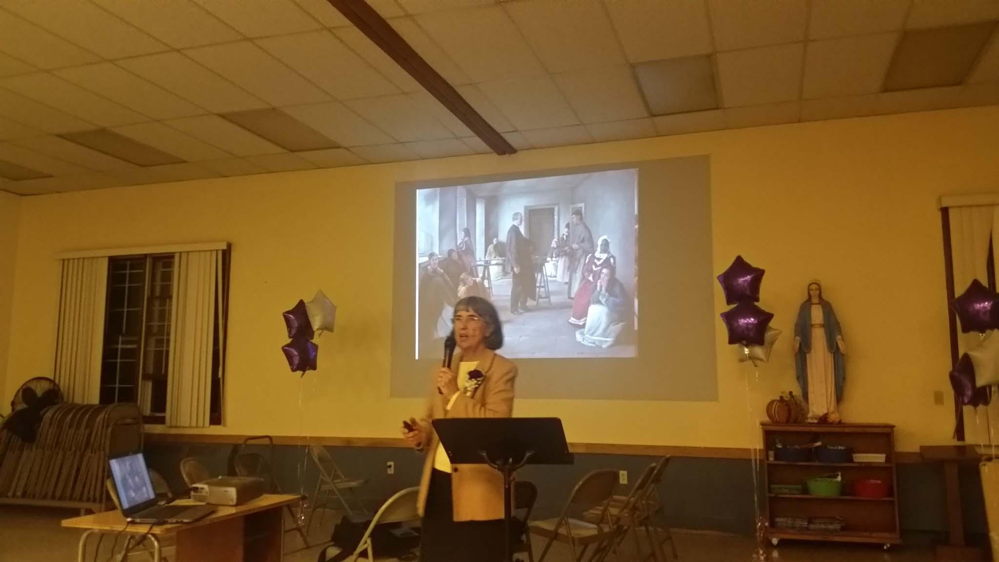 Sister Joanne speaking at 10th Anniversary