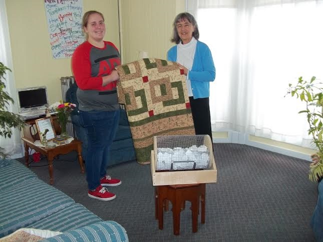 Sister Joanne with Quilt